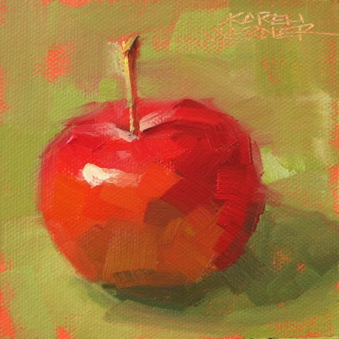 """""""One Crabapple"""" original fine art by Karen Werner"""