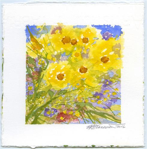 """""""Happy Yellow"""" original fine art by Eileen Hennemann"""