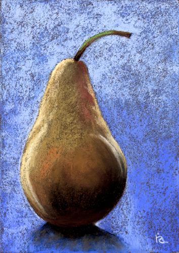 """bosc pear"" original fine art by Ria Hills"