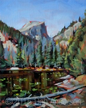 """""""Oil Painting: Lily Lake"""" original fine art by Deb Anderson"""
