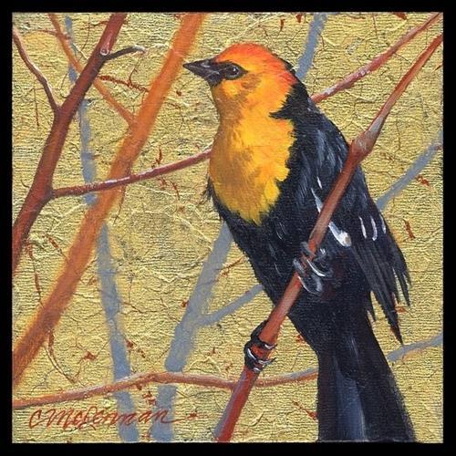 """Blackbird"" original fine art by Connie McLennan"
