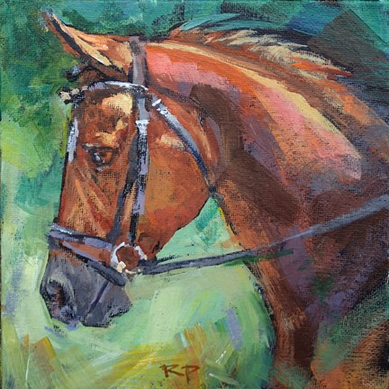 """Show Horse"" original fine art by Robin Peterson"