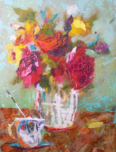 """""""AFTERNOON TREAT, 12x16, Mixed Media"""" original fine art by Amy Whitehouse"""