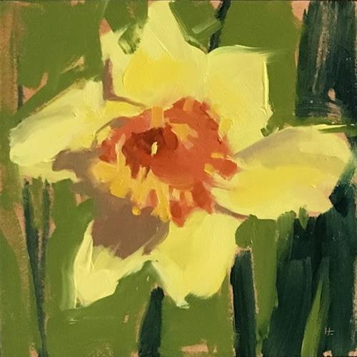 """DAFFODIL #2"" original fine art by Helen Cooper"