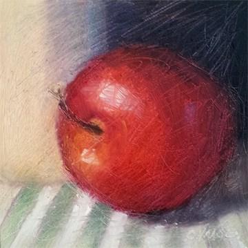 """Green Stripes"" original fine art by Cindy Haase"