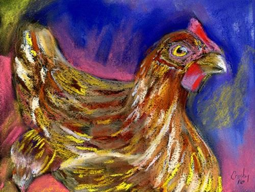 """""""Ruler He Thinks"""" original fine art by Donna Crosby"""