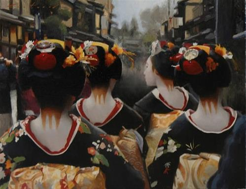 """""""Gion Morning"""" original fine art by Phil Couture"""