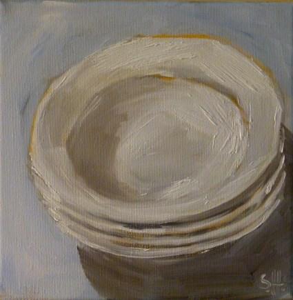 """""""Tiefe Teller"""" original fine art by Sabine Hüning"""