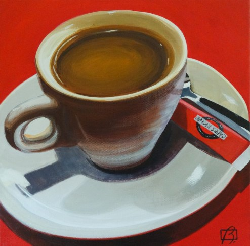 """""""Cafe in the 12th"""" original fine art by Andre Beaulieu"""