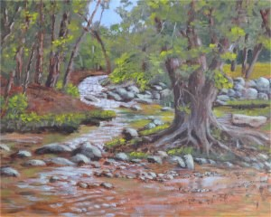 """""""Island in the Notley"""" original fine art by Robert Frankis"""