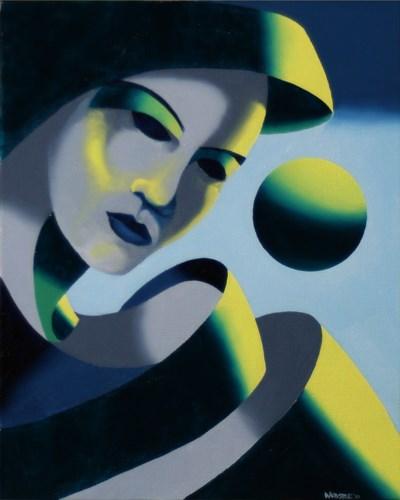 """Mark Adam Webster - Dark Matter Painting Series #2"" original fine art by Mark Webster"