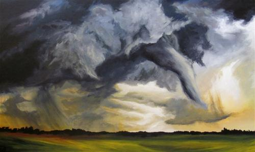 """""""Tornado Alley"""" original fine art by ~ces~ Christine E. S. Code"""