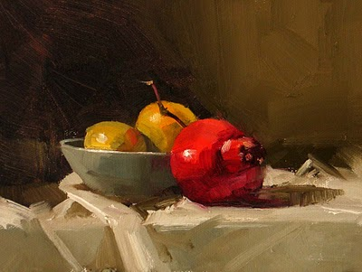 """Pomegranate --- Sold"" original fine art by Qiang Huang"