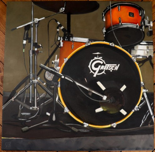 """Gretsch"" original fine art by Andre Beaulieu"