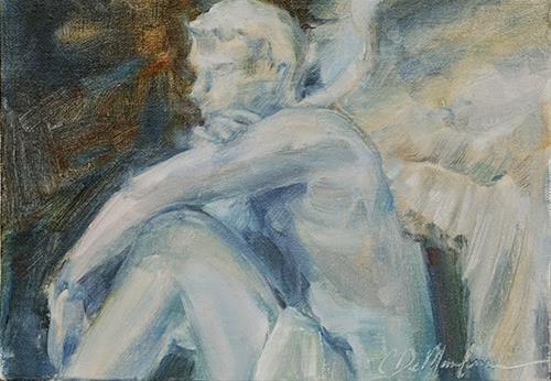 """Keeping Watch - Guardian Angel  (Day 2)"" original fine art by Carol DeMumbrum"
