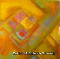 """St. Bridgid's Cross"" original fine art by Deirdre McCullough Grunwald"