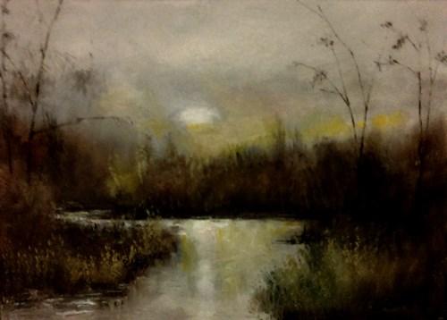 """Slow River"" original fine art by Bob Kimball"