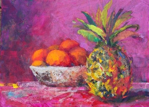 """Fruit Bowl, Contemporary Still Life Paintings by Arizona Artist Amy Whitehouse"" original fine art by Amy Whitehouse"