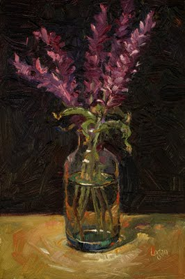 """Mexican Sage"" original fine art by Raymond Logan"