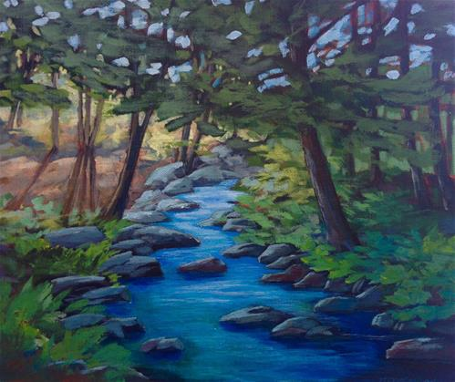 """""""Brianna's Woods"""" original fine art by Eileen Hennemann"""