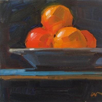 """Orange Light --- SOLD"" original fine art by Carol Marine"