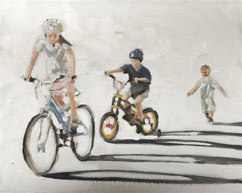 """I Want a Bike"" original fine art by James Coates"