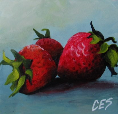 """Mad Strawberries"" original fine art by ~ces~ Christine E. S. Code"
