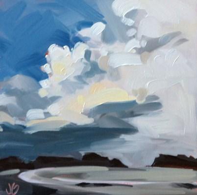 """""""Storm Sky"""" original fine art by Jessica Green"""