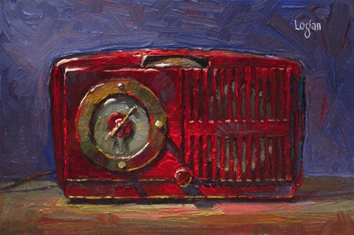 """Jeff's Clock Radio (GE) small"" original fine art by Raymond Logan"