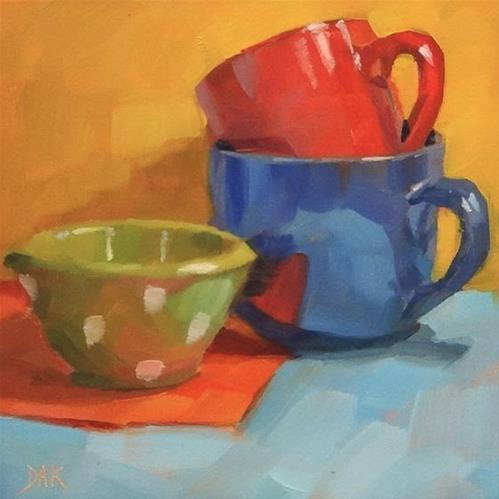 """I See Spots"" original fine art by Deborah Ann Kirkeeide"