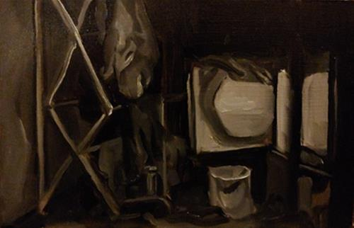 """73 - Laundry Study"" original fine art by Edward Watson"