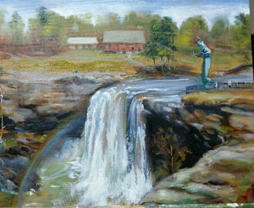 """Noccalula Falls "" original fine art by Nan Perry"