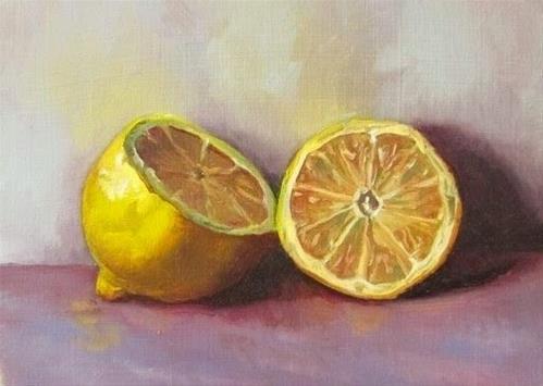 """23- Lemons"" original fine art by Ed Watson"