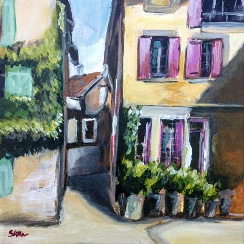 """1505 St. Didier near the Chateau"" original fine art by Dietmar Stiller"