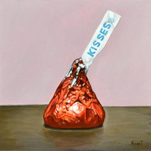 """""""Just a Kiss"""" original fine art by Kim Testone"""