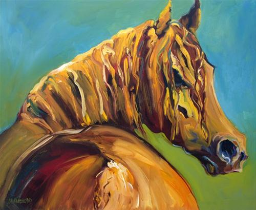 """D Whitehead Horse Equine art Oil Painting"" original fine art by Diane Whitehead"