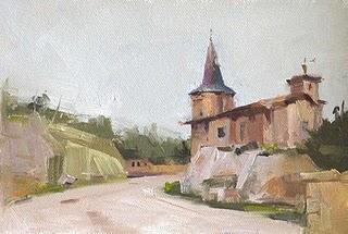 """House in Austin 1"" original fine art by Qiang Huang"