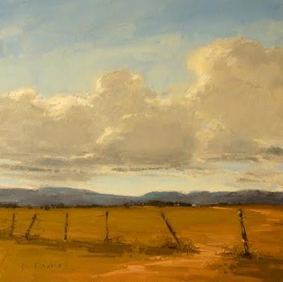 """""""Western Skies (enlarged)"""" original fine art by Laurel Daniel"""