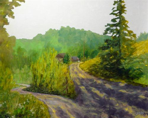 """Take The High Road?"" original fine art by Dalan Wells"