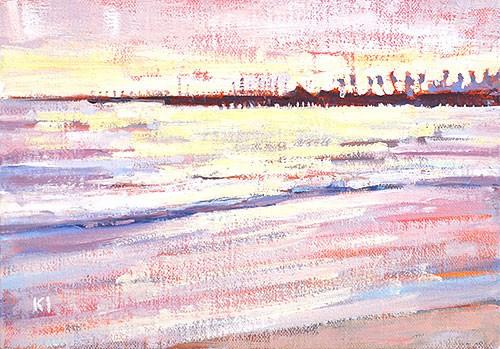 """Santa Barbara Beach Painting"" original fine art by Kevin Inman"
