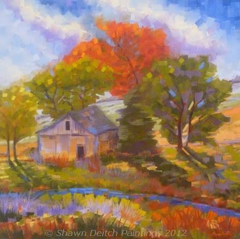 """""""Prairie Trace Barn"""" original fine art by Shawn Deitch"""