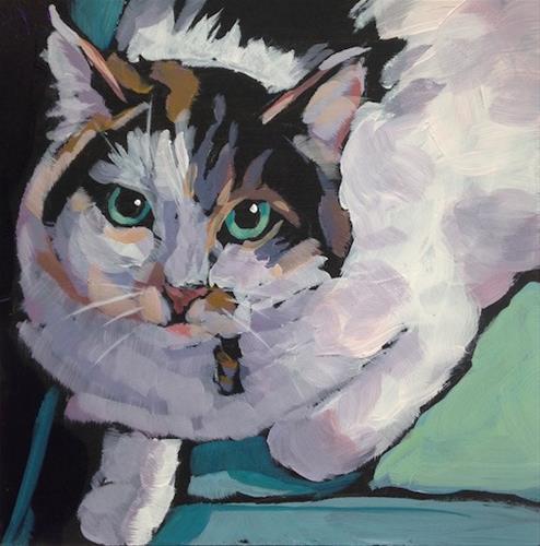 """March 3, Momma Cat"" original fine art by Kat Corrigan"