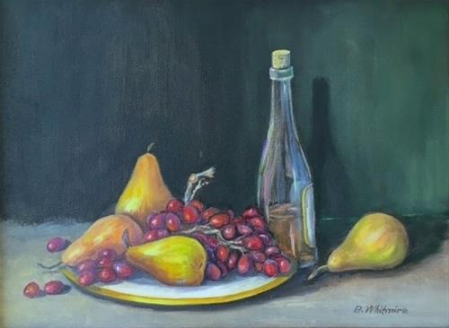 """Wine and Fruit"" original fine art by Barbara Whitmire"