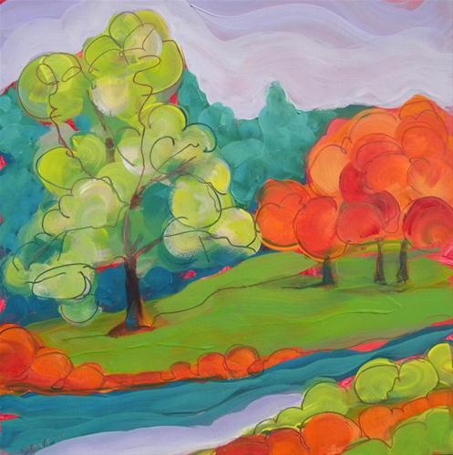 """""""Park Trees"""" original fine art by Pam Van Londen"""