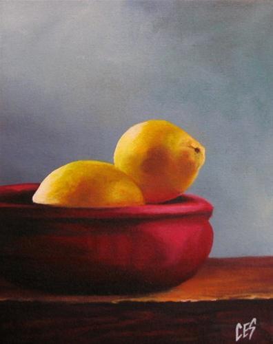 """""""Bowl of Lemons"""" original fine art by ~ces~ Christine E. S. Code"""