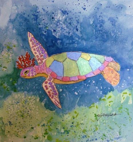 """Dreams of the Turtle King 13088"" original fine art by Nancy Standlee"