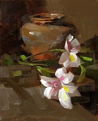"""""""Tiger Lily --- Sold"""" original fine art by Qiang Huang"""