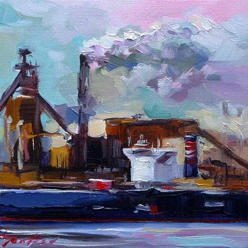 """""""Im Hafen 2"""" original fine art by Jurij Frey"""