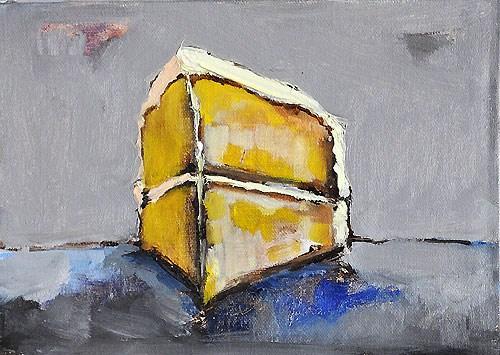 """Yellow Birthday Cake"" original fine art by Kevin Inman"