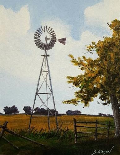 """Dean's Windmill"" original fine art by Steve Gibson"
